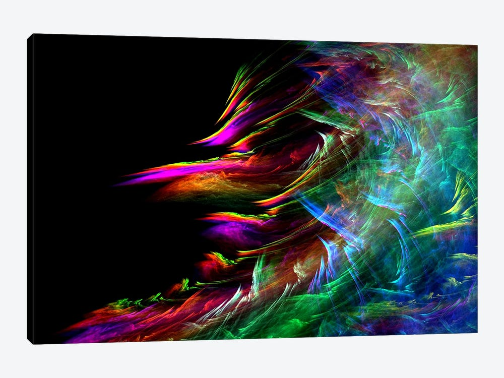 Fire Waive by Unknown Artist 1-piece Canvas Wall Art