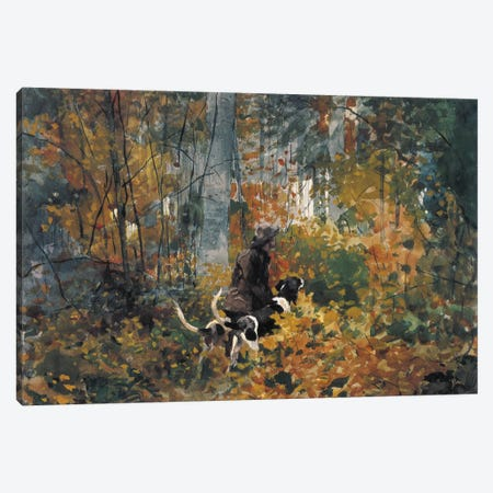 On the Trail, 1892 Canvas Print #1251} by Winslow Homer Canvas Art Print