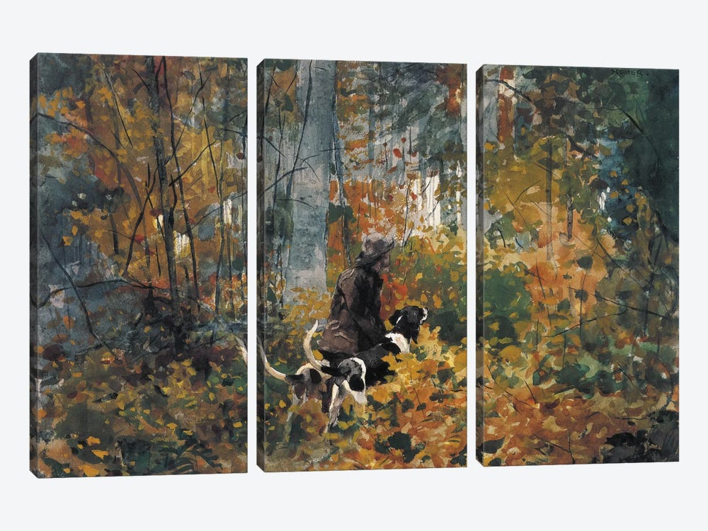 On the Trail, 1892 3-piece Canvas Print