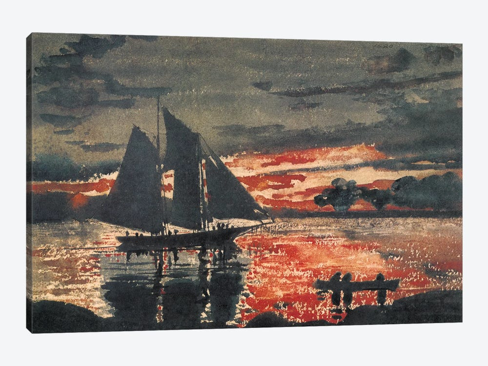 Sunset Fires, 1880 by Winslow Homer 1-piece Canvas Artwork