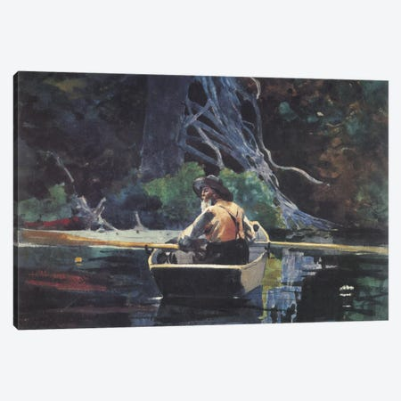 The Adirondack Guide 1894 Canvas Print #1259} by Winslow Homer Canvas Art Print