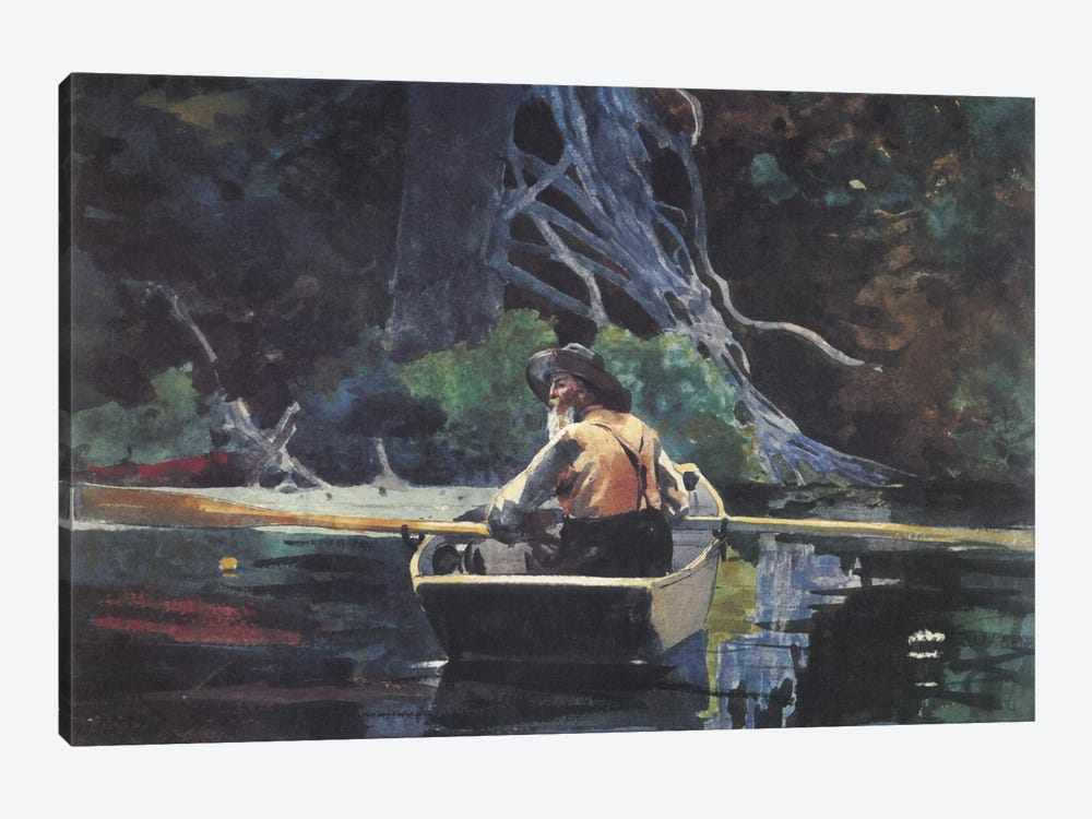 The Adirondack Guide 1894 by Winslow Homer 1-piece Art Print