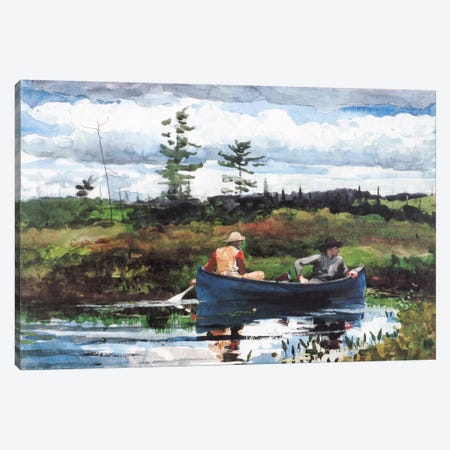 The Blue Boat 1892 Canvas Print #1260} by Winslow Homer Canvas Artwork
