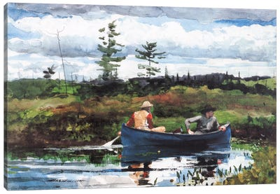 The Blue Boat 1892 by Winslow Homer Canvas Artwork