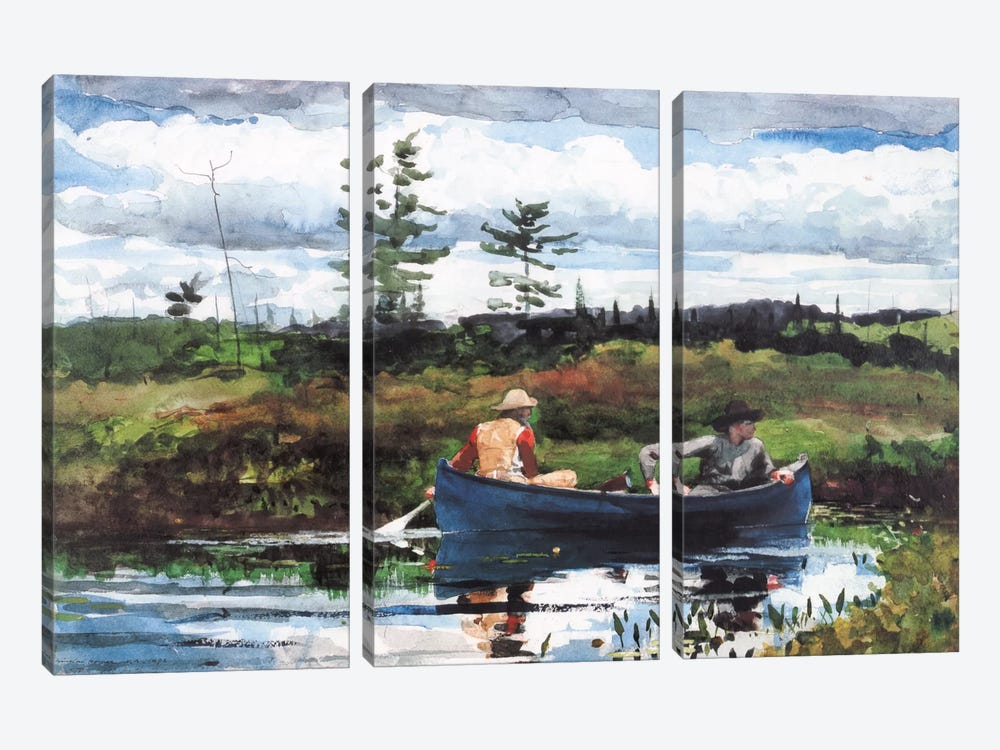 The Blue Boat, 1892 by Winslow Homer 3-piece Art Print