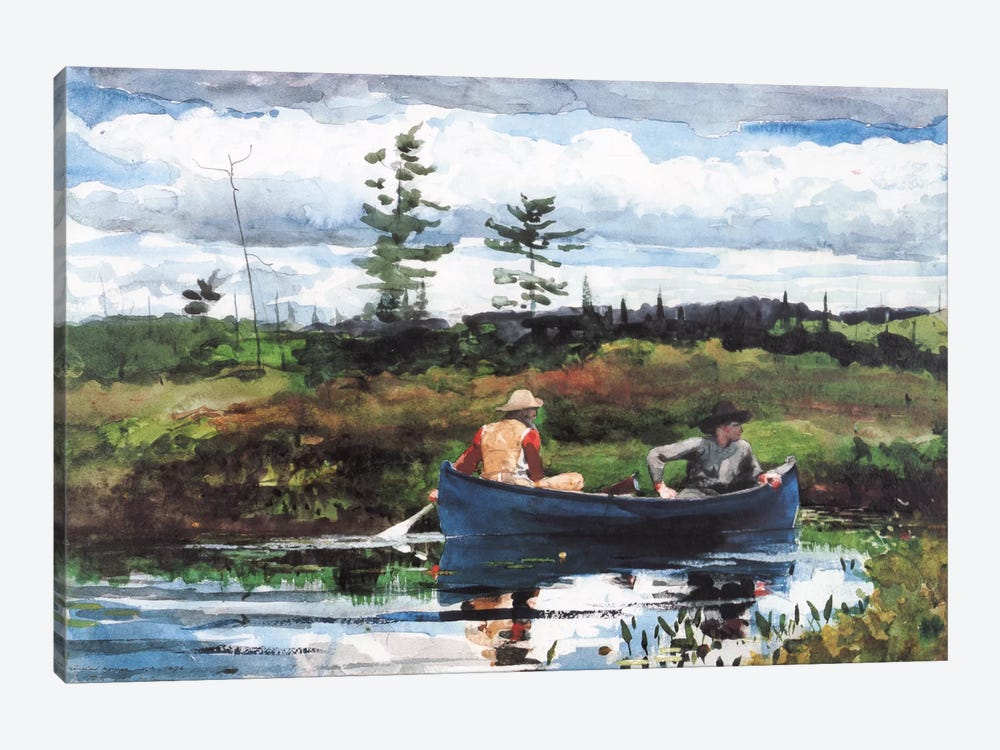 The Blue Boat, 1892 by Winslow Homer 1-piece Canvas Print