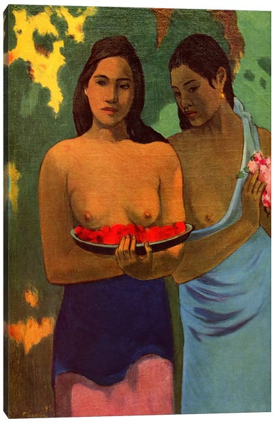 Deux Thaitiennes (Two Tahitian Women) Canvas Print #1279
