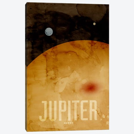 The Planet Jupiter Canvas Print #12801} by Michael Tompsett Canvas Art Print