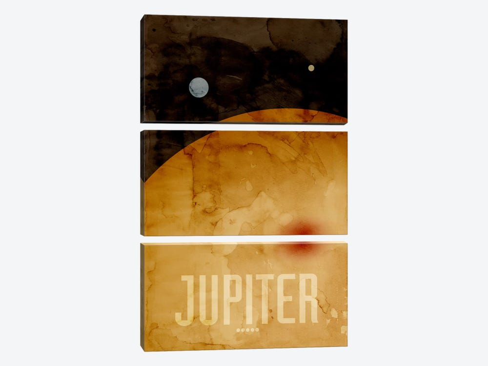 The Planet Jupiter by Michael Tompsett 3-piece Canvas Artwork