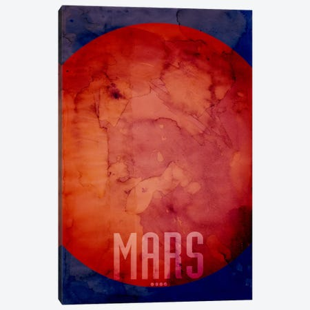 The Planet Mars Canvas Print #12802} by Michael Tompsett Canvas Art Print
