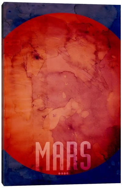 The Planet Mars Canvas Art Print