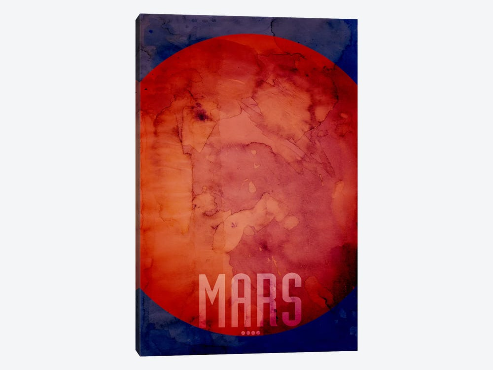 The Planet Mars by Michael Tompsett 1-piece Art Print