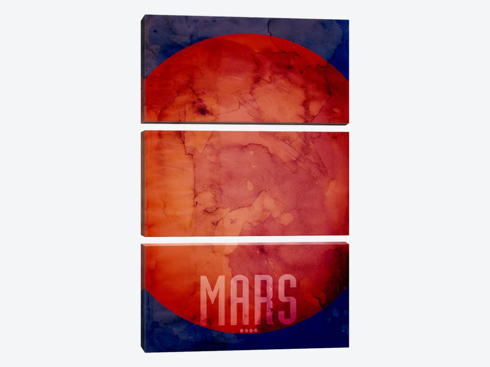 The Planet Mars by Michael Tompsett 3-piece Canvas Art Print