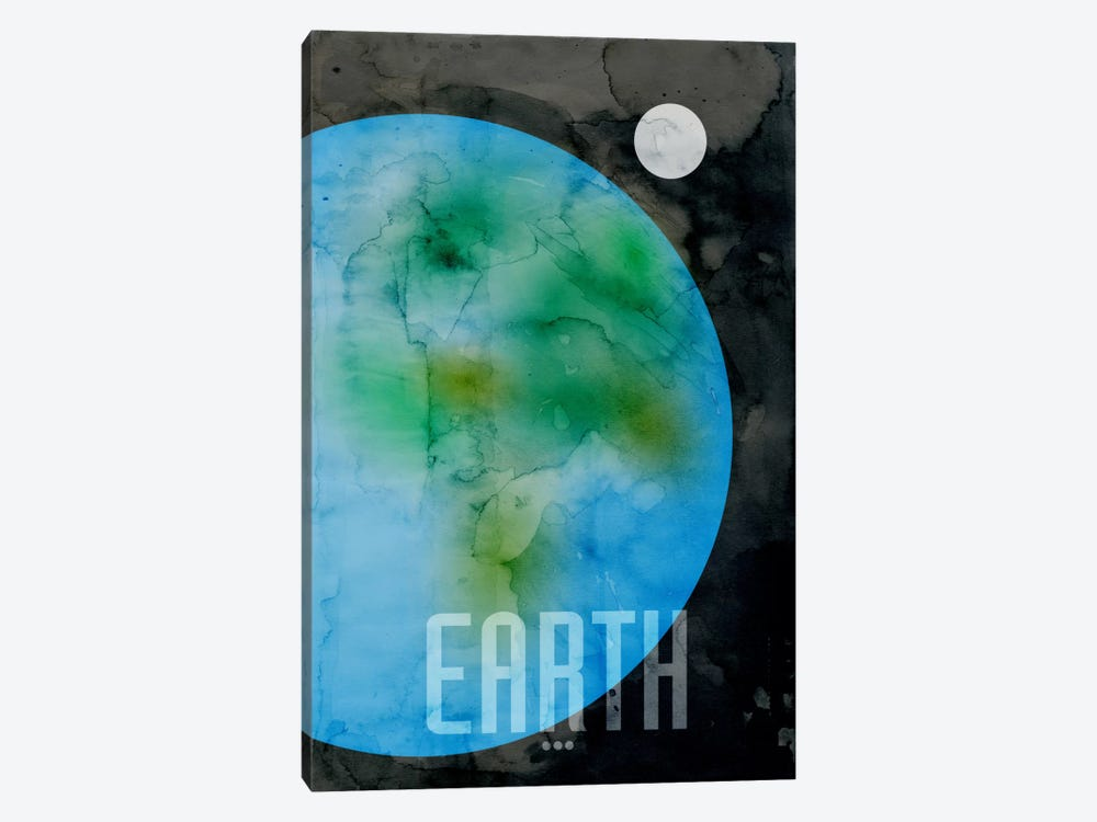 The Planet Earth by Michael Tompsett 1-piece Canvas Wall Art
