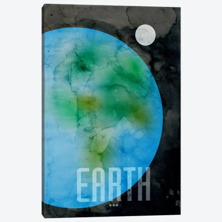 The Planet Earth Canvas Print #12803} by Michael Tompsett Art Print