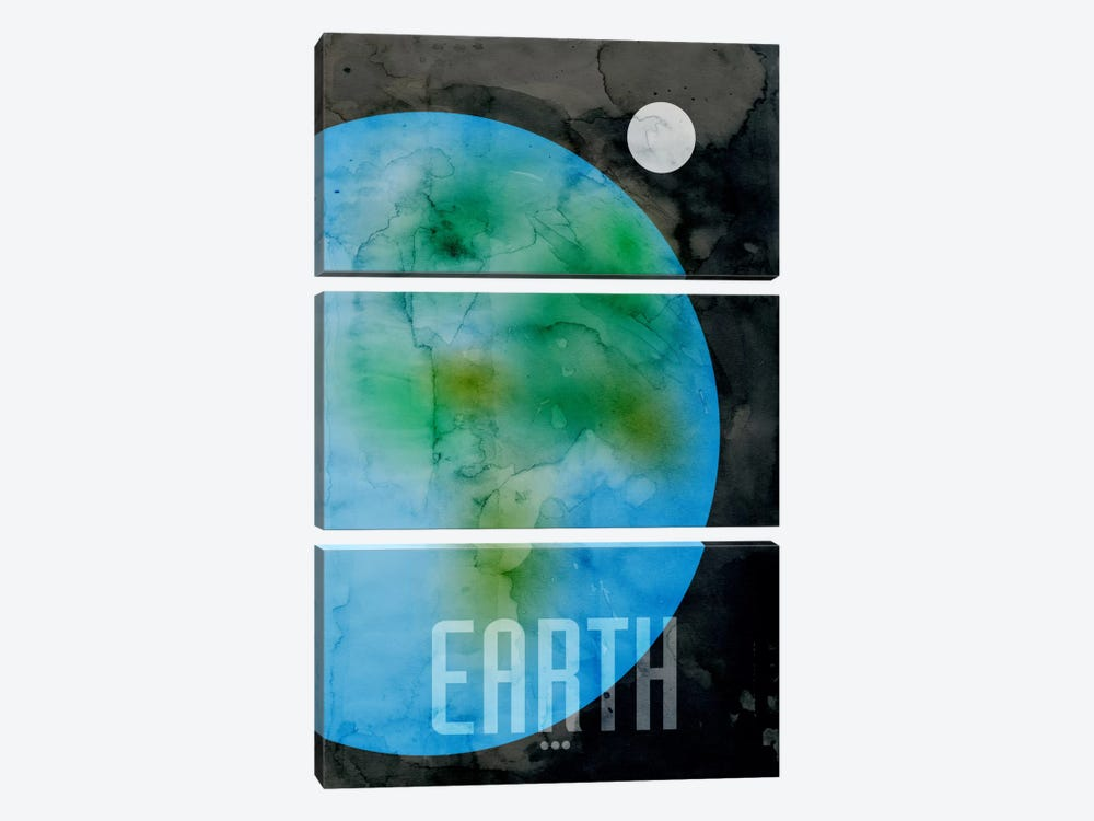 The Planet Earth by Michael Tompsett 3-piece Canvas Artwork