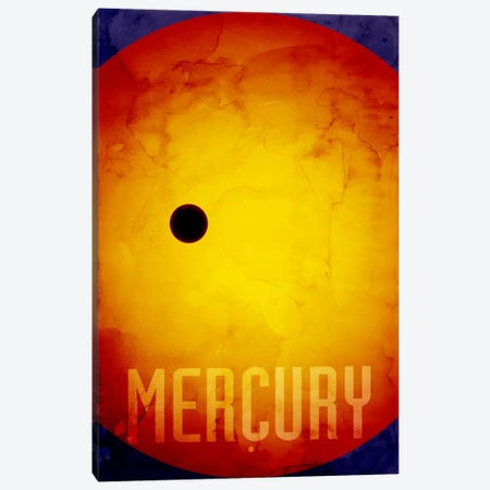 The Planet Mercury Canvas Print #12805} by Michael Tompsett Canvas Art
