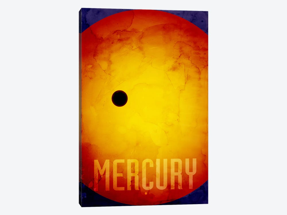 The Planet Mercury by Michael Tompsett 1-piece Canvas Wall Art