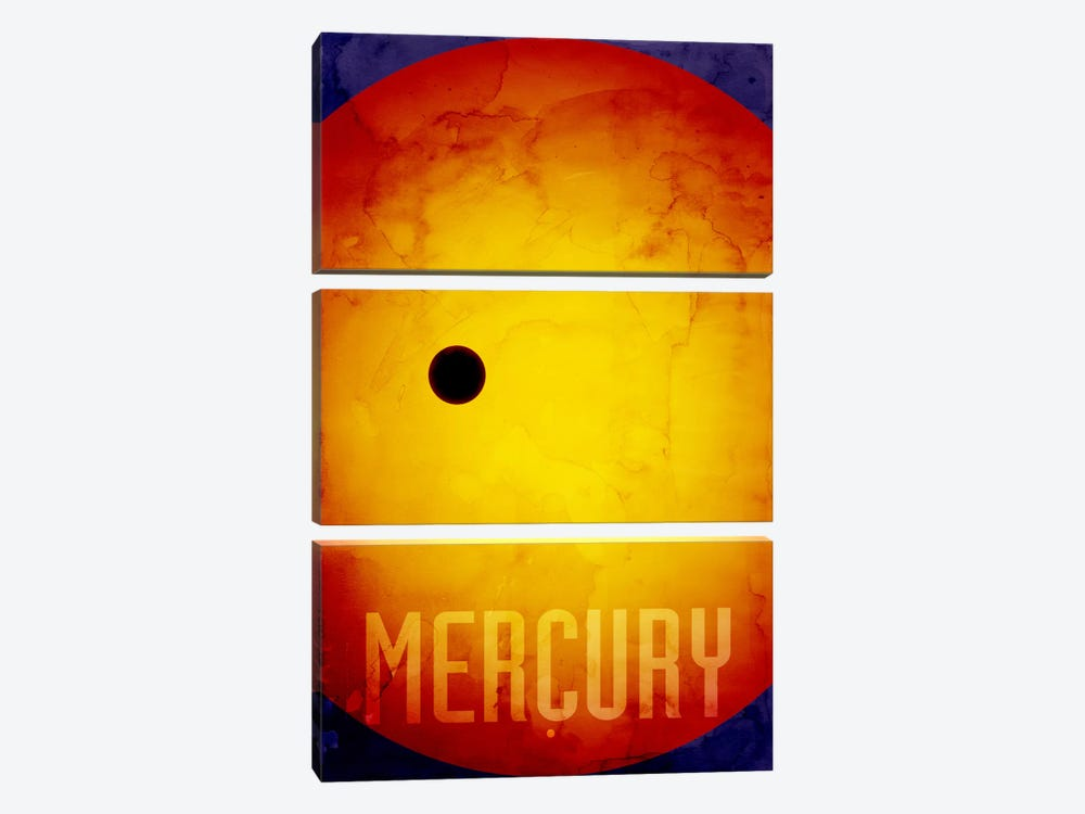 The Planet Mercury by Michael Tompsett 3-piece Canvas Artwork