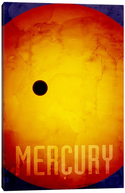 The Planet Mercury Canvas Art Print