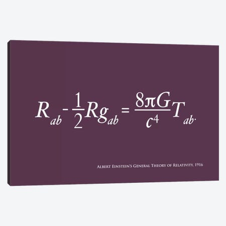 Einstein's Theory of Relativity Canvas Print #12807} by Michael Tompsett Canvas Wall Art