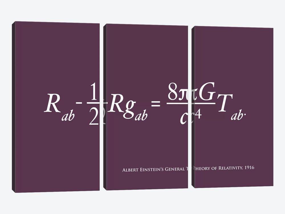 Einstein's Theory of Relativity by Michael Tompsett 3-piece Canvas Art