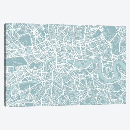 London Map Canvas Print #12808} by Michael Tompsett Canvas Print