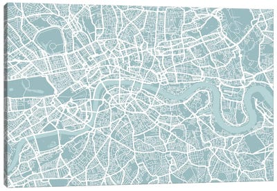 London Map Canvas Print #12808