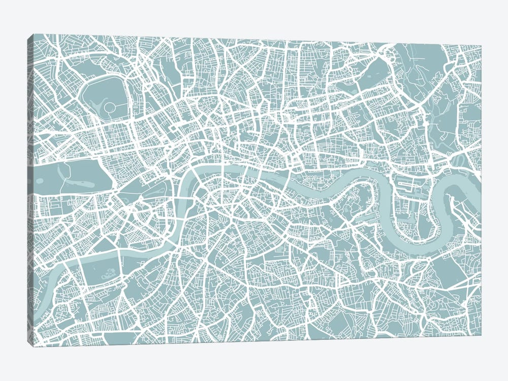 London Map by Michael Tompsett 1-piece Art Print