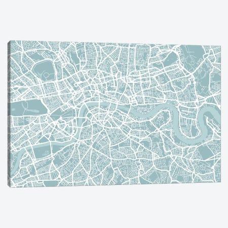 London Map Canvas Print #12808} by Michael Tompsett Canvas Print