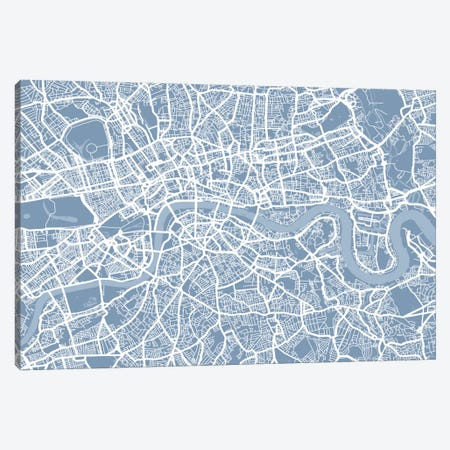 London Map II Canvas Print #12809} by Michael Tompsett Canvas Print