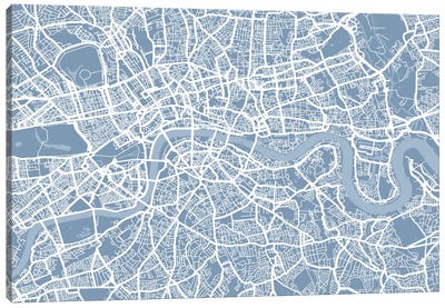 London Map II Canvas Art Print