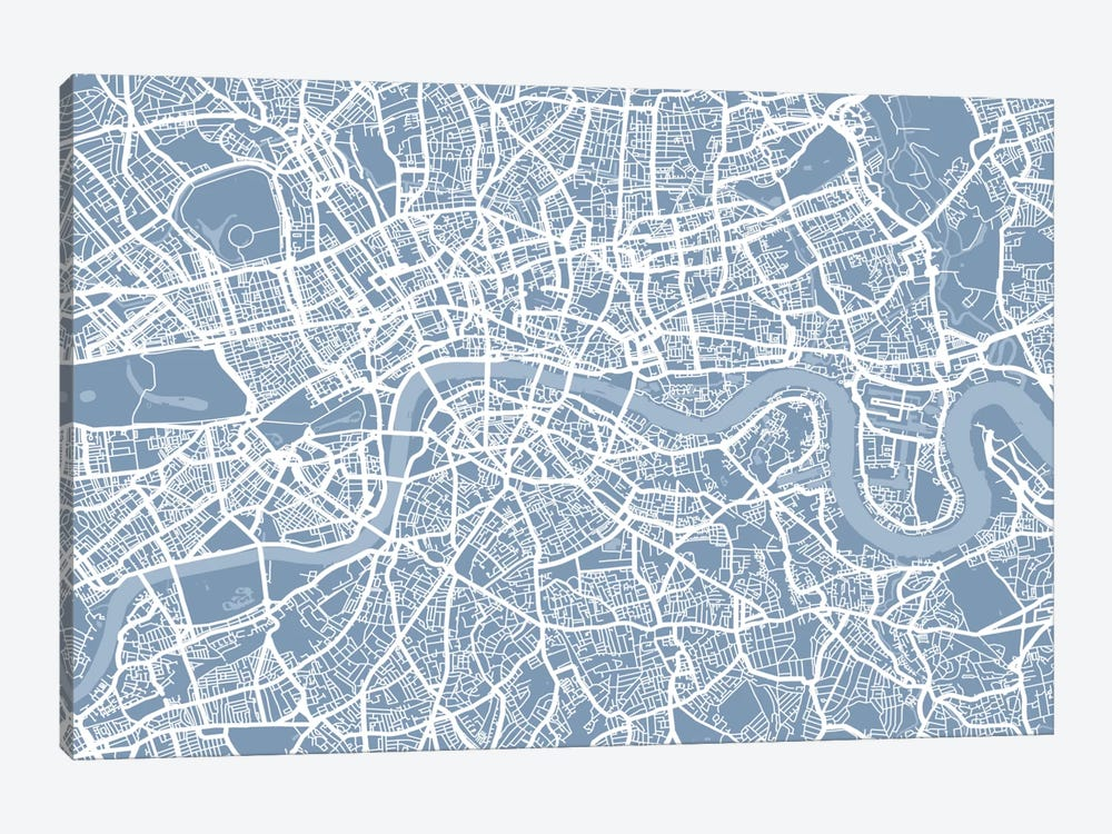 London Map II by Michael Tompsett 1-piece Canvas Artwork