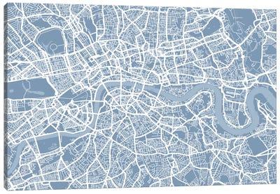 London Map II Canvas Art Print