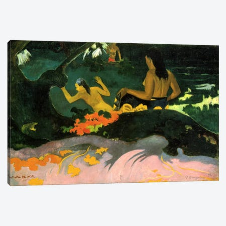Fatata Te Miti (By the Sea) 1892 Canvas Print #1280} by Paul Gauguin Canvas Wall Art