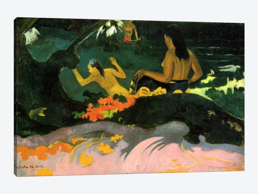 Fatata Te Miti (By the Sea) 1892 by Paul Gauguin 1-piece Canvas Art Print