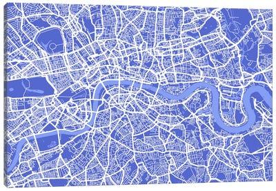 London Map IV (Blue) Canvas Art Print