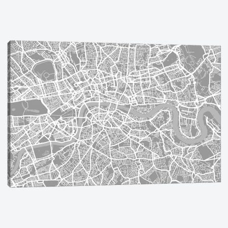 London Map V Canvas Print #12812} by Michael Tompsett Canvas Art