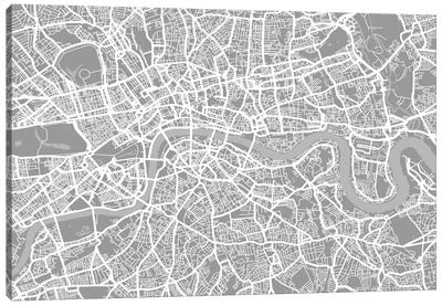 London Map V Canvas Art Print