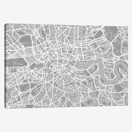 London Map V Canvas Print #12812} by Michael Tompsett Canvas Art