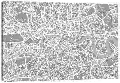 London Map V Canvas Art Print