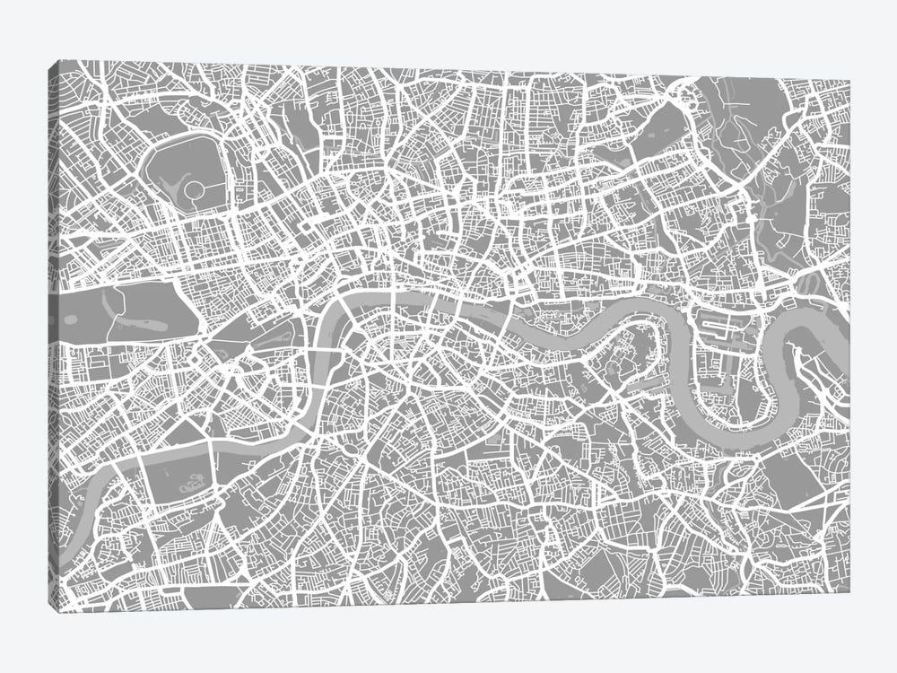 London Map V by Michael Tompsett 1-piece Canvas Art