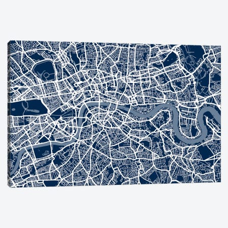 London Map VI Canvas Print #12813} by Michael Tompsett Canvas Art