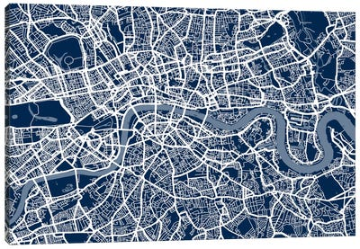 London Map VI Canvas Art Print