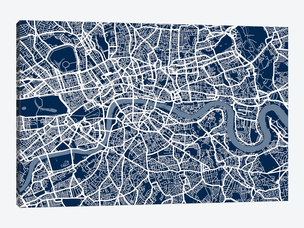 London Map VI 1-piece Canvas Art Print
