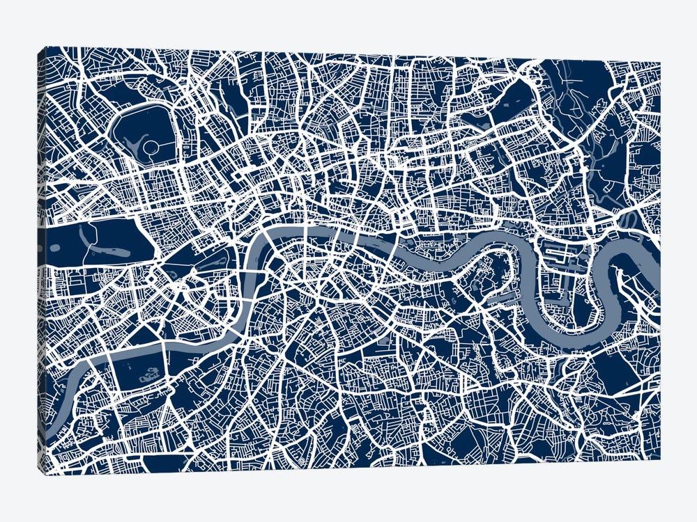 London Map VI by Michael Tompsett 1-piece Canvas Art Print