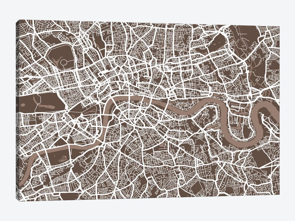 London Map VII by Michael Tompsett 1-piece Canvas Art