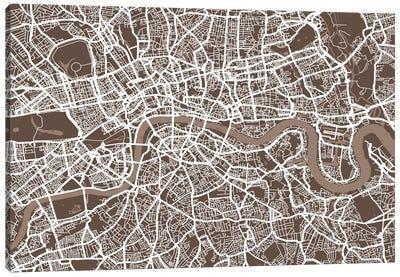London Map VII Canvas Art Print