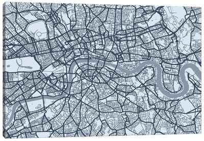 London Map VIII Canvas Art Print