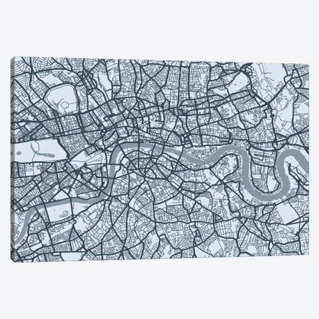 London Map VIII Canvas Print #12815} by Michael Tompsett Canvas Print